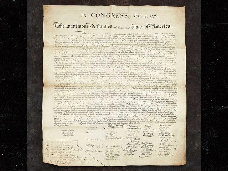 चार्ल्स कैरोल की स्वतंत्रता की घोषणा की प्रति