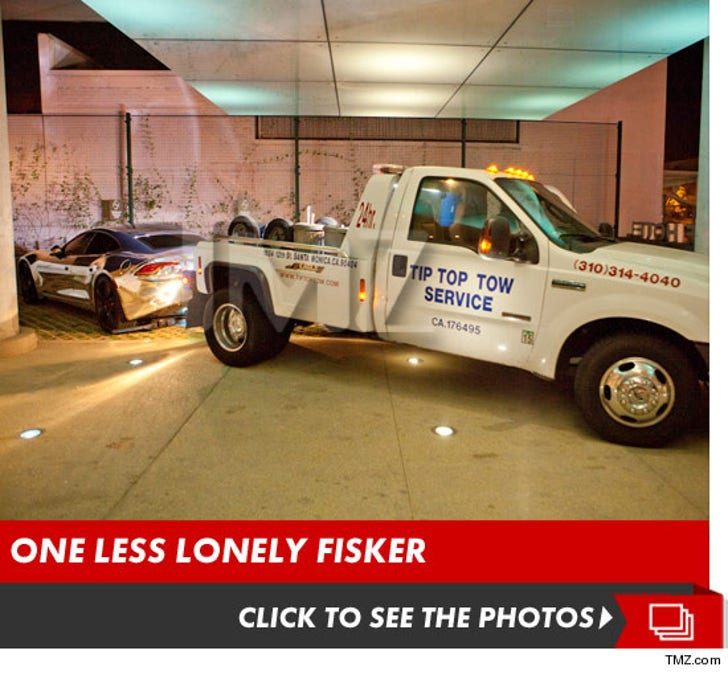Justin Bieber's Chrome Car -- TOWED During Concert