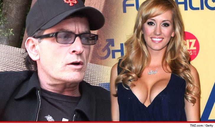 Charlie Sheen -- Ex-Porn Star Gf Brett Rossi Is The Love -7784