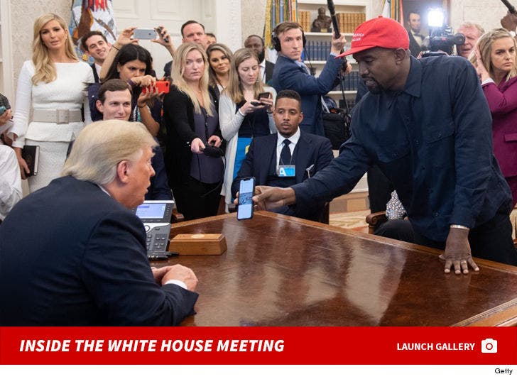 Kanye West Meets Trump at The White House