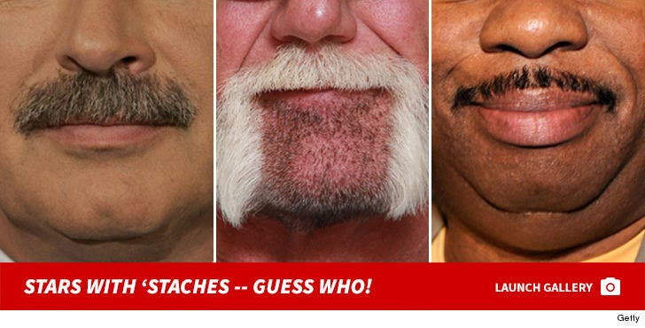Stars with 'Staches -- Guess Who!
