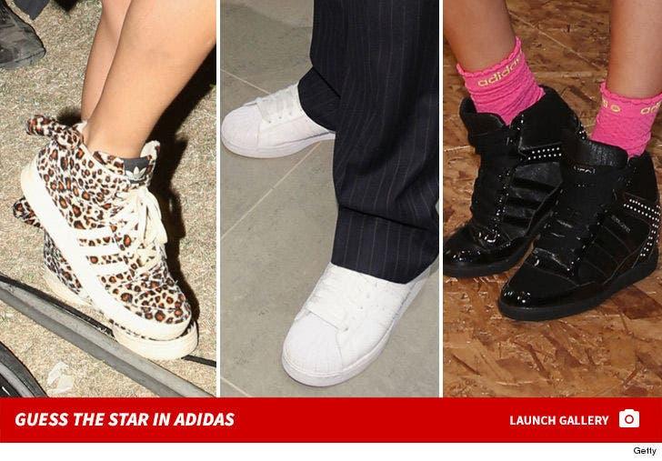 Celebs Sportin' Adidas -- Guess Who!!!