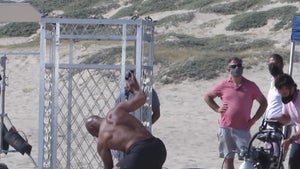 Mike Tyson In Shirtless Steel Cage Showdown On L.A. Beach, Still Ripped