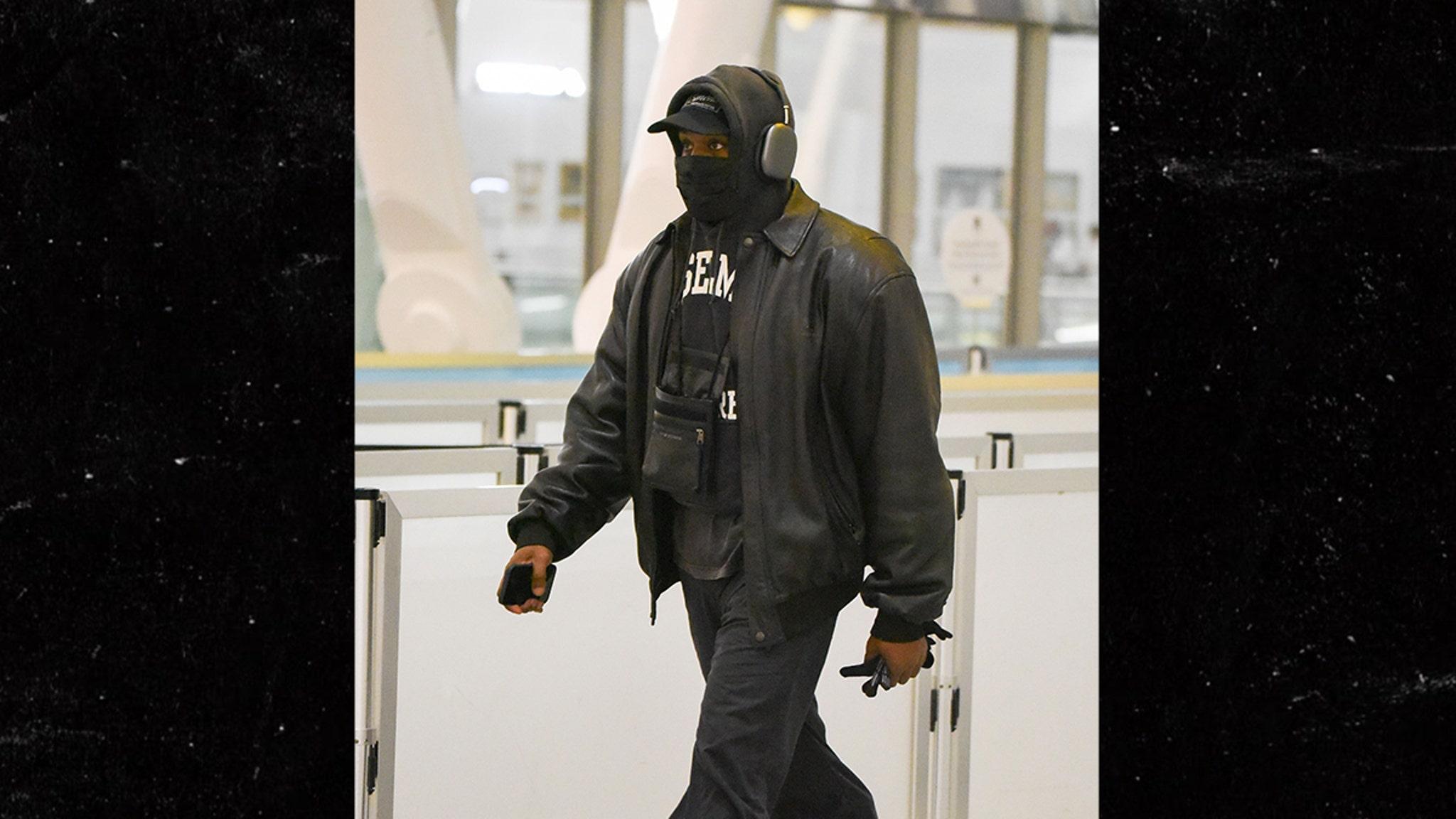 Kanye West Walking Through Airport Like Average Joe