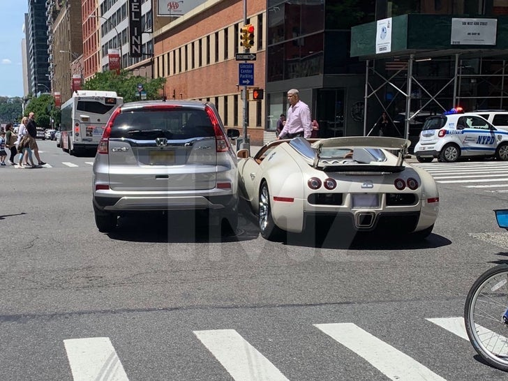 Tracy Morgan's Brand New Bugatti Sideswiped in NYC