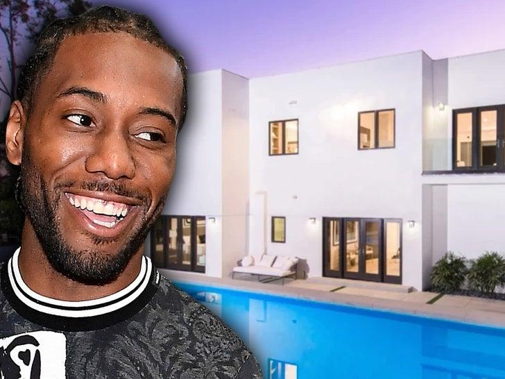 Kawhi Leonard Scopes Out Beverly Hills House