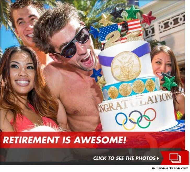 Michael Phelps Retirement Party at Surrender Nightclub and Encore Beach Club