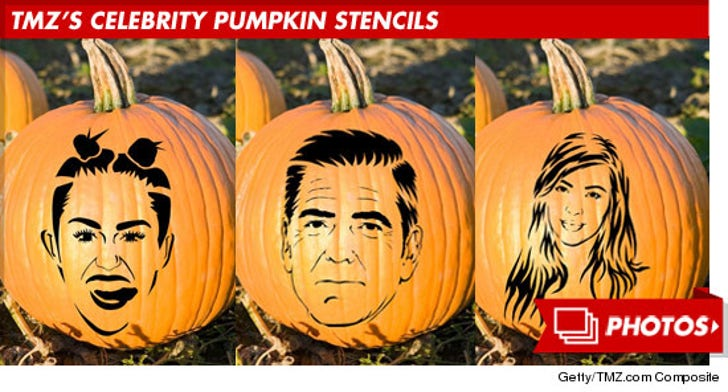 TMZ's Celebrity Pumpkin Stencils -- Cut It Out!