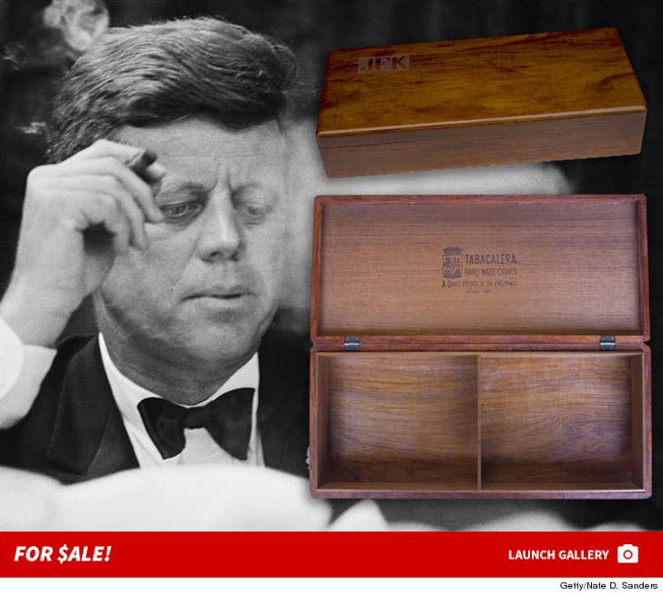 John F. Kennedy's Cigar Box Up For Auction