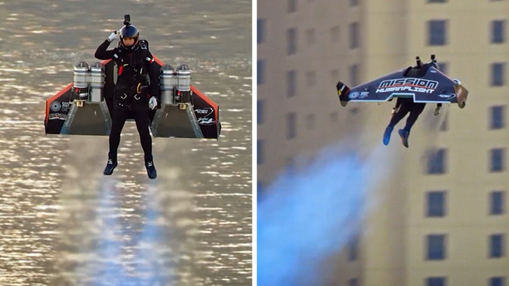 Watch a real-life Iron Man hover 6,000 feet above Dubai