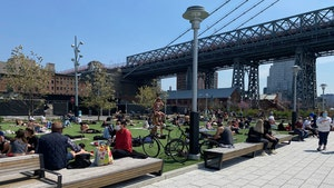 NYC's Domino Park Packed to the Gills, Not Much Social Distancing