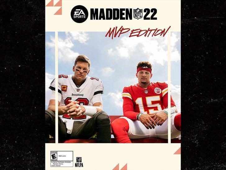 Tom Brady, Patrick Mahomes Grace Madden 22 Cover, Flirting With The Curse Again?.jpg