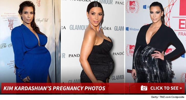 Kim Kardashian -- About to Pop Star