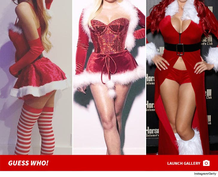 Sexy Celeb Santas -- Guess Who!