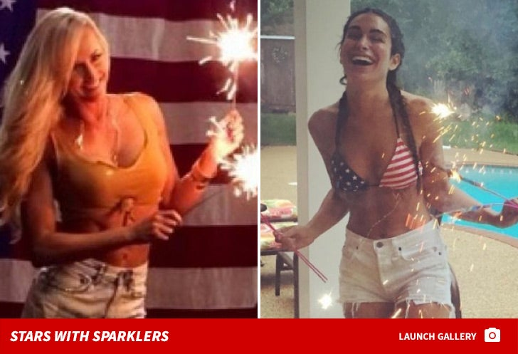 Celebrity Sparklers -- Happy Fourth of July!