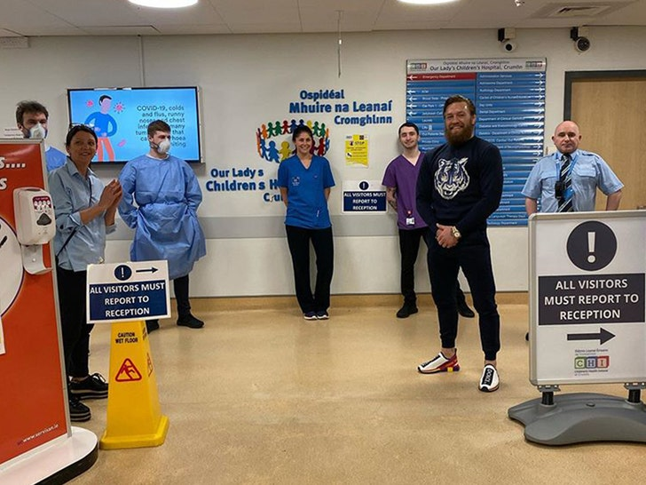 Conor McGregor Hand Delivers Supplies To Dublin Children's Hospital 1