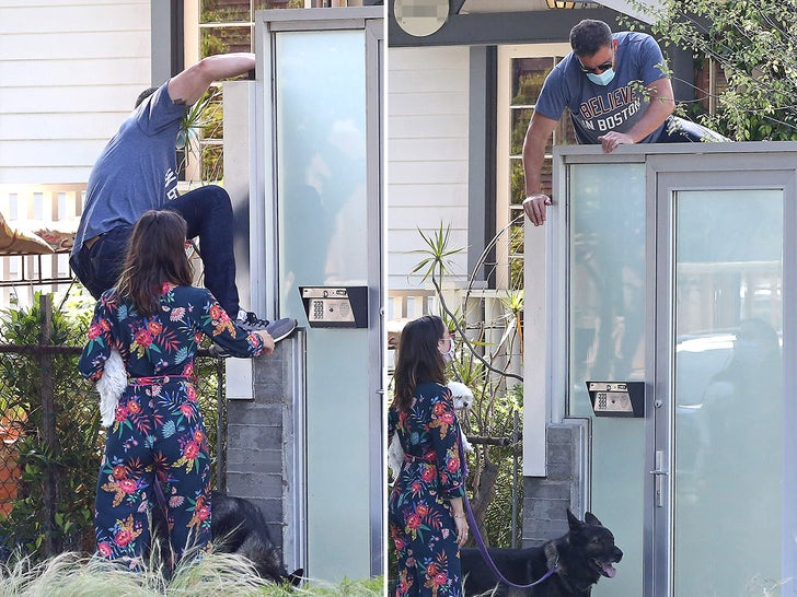 Ben Affleck Hops Gate After Getting Locked Out With Ana