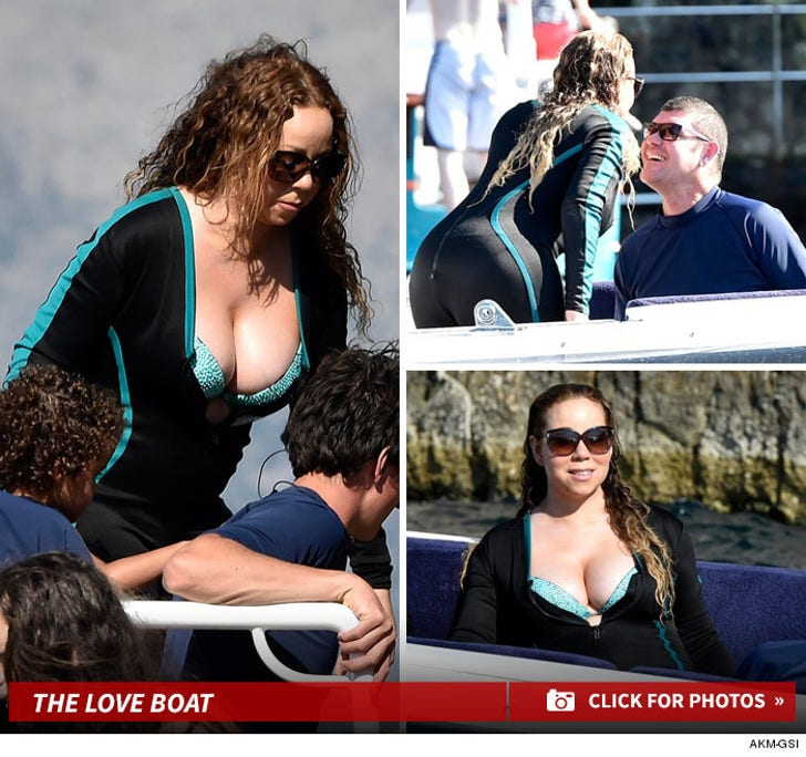 Mariah Carey to Billionaire BF -- These Boobs Float Your Boat? (PHOTOS)