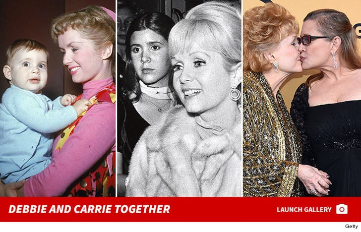 Debbie Reynolds and Carrie Fisher Together