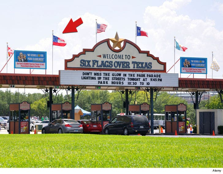 Six Flags Over Texas, No Plans to Remove Confederate Flag