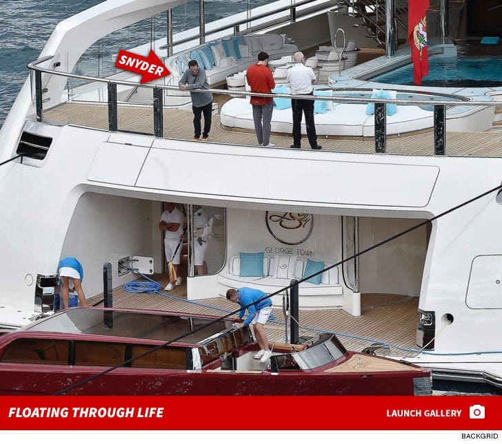 Dan Snyder -- Floating Through Life on Massive Yacht