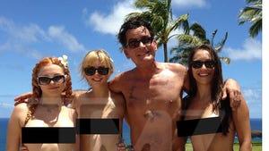 Charlie Sheen -- Meet My 'Angels' ... Now Meet Their Boobs