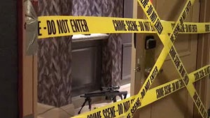 Las Vegas Shooter's Hotel Room, Strewn with Bullets and Rifles