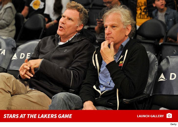 Stars at the Lakers vs. Warriors Game