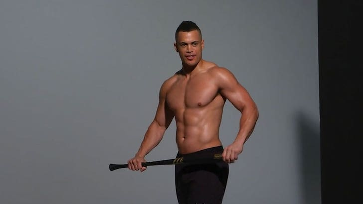 buy online 7c3da a8691 Giancarlo Stanton Greased Up and Topless, Say Cheese!