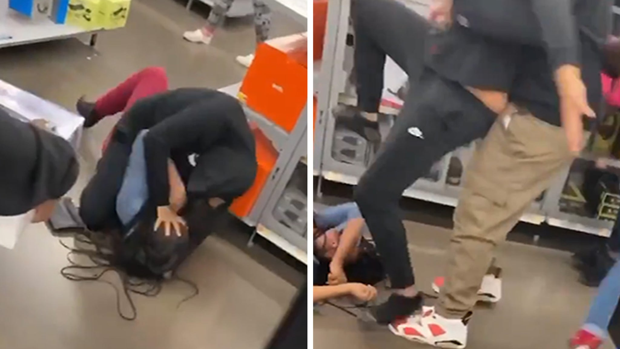 Walmart Brawl Ends with Woman Stomped On, Knocked Out Cold