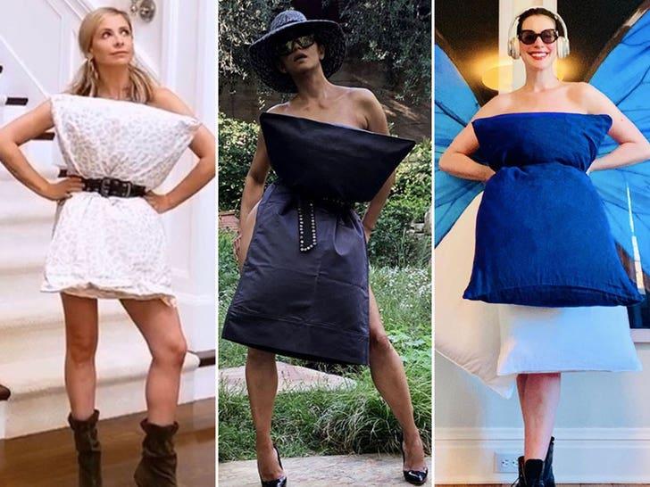 Celebrity Pillow Challenges -- Quaran-clothes!