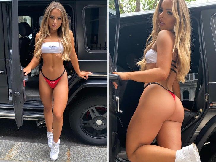 Zoe Antonia Rides In (Bikini) Style ... Buckle Up!