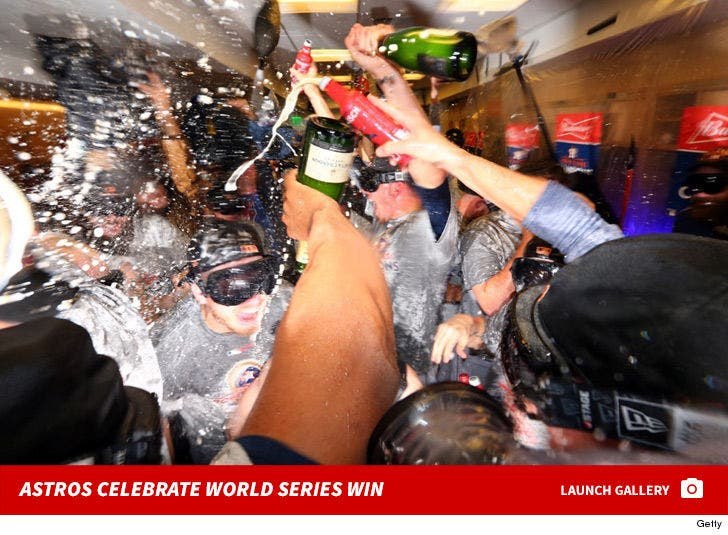 Astros World Series Celebration -- Champagne Showers