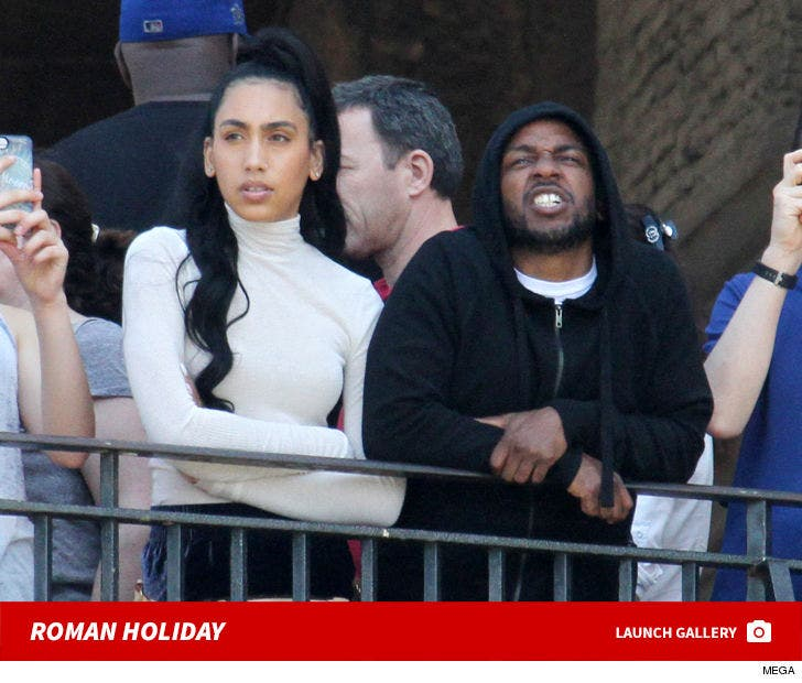 Kendrick Lamar and Fiancee Visit The Vatican Museums In Rome