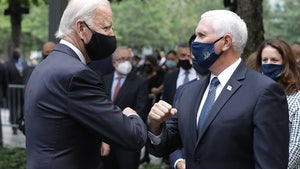 Joe Biden, Vice President Pence Together at 9/11 Memorial in NYC