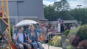 Pete Davidson & Kaley Cuoco Take On-Set Palling Around to Six Flags