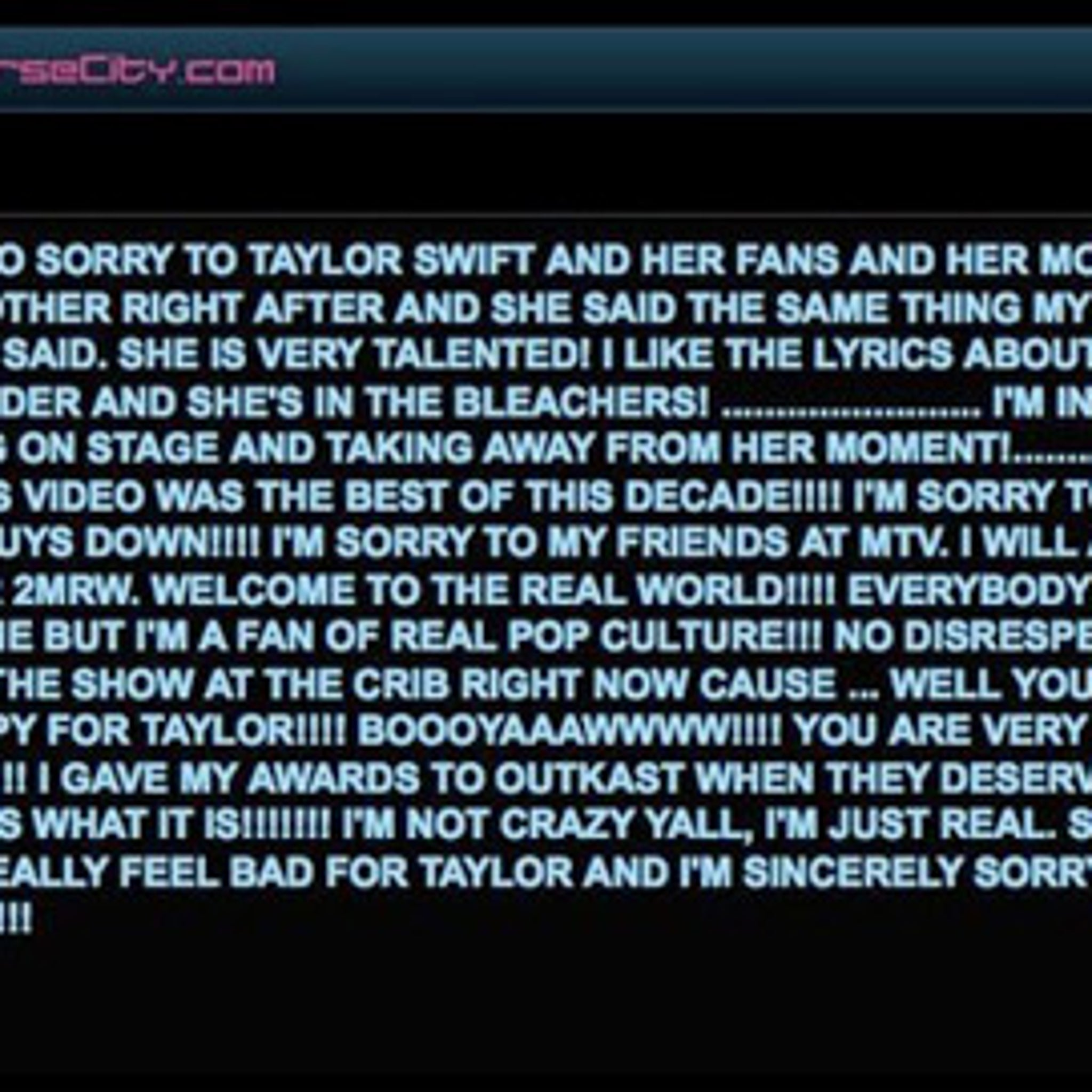 Kanye Issues Apology, Swiftly Takes It Down