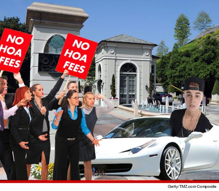 Justin Bieber's Neighbors -- Planning a Revolt Over Singer's Antics