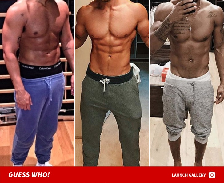 Shirtless Studs In Sweatpants -- Guess Who!