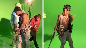 YFN Lucci Accidentally Fires Gun During Music Video Shoot