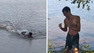 Alligator Chases Down Brazilian Swimmer, Takes a Bite!