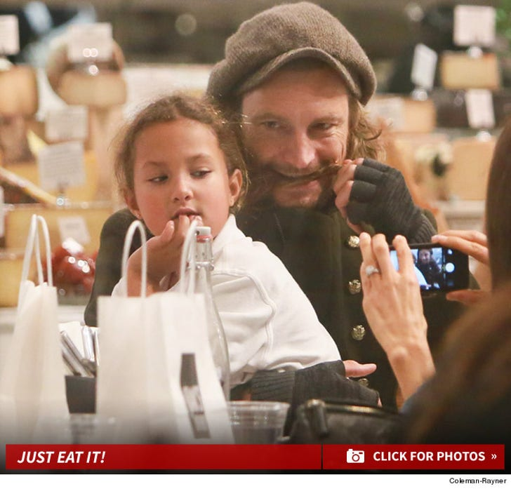 Gabriel Aubry and Nahla -- The Daddy Daughter Fun