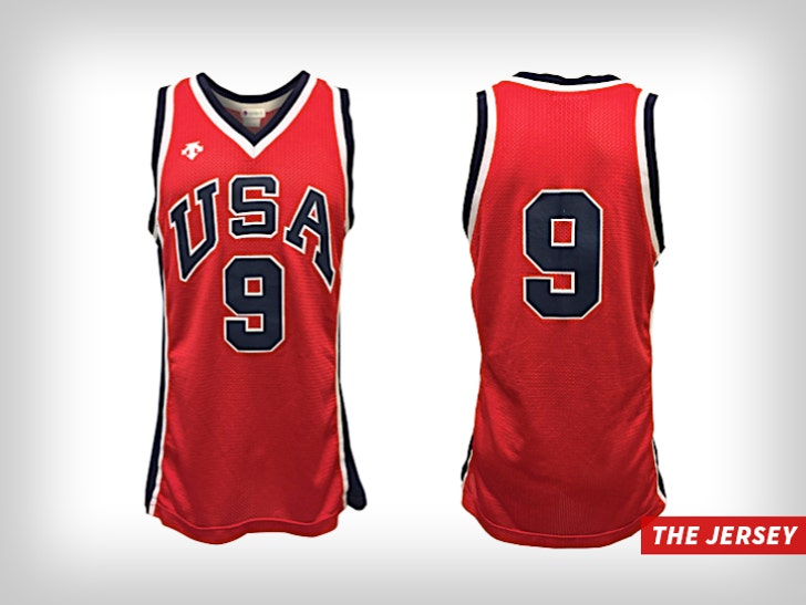quality design c4648 fb77d Michael Jordan's 1984 Olympics Jersey Hits Auction Block