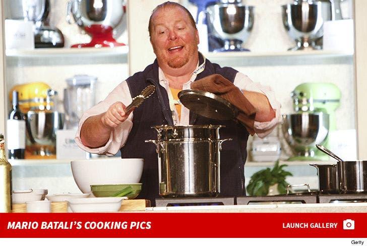 Mario Batali's Cooking Pics