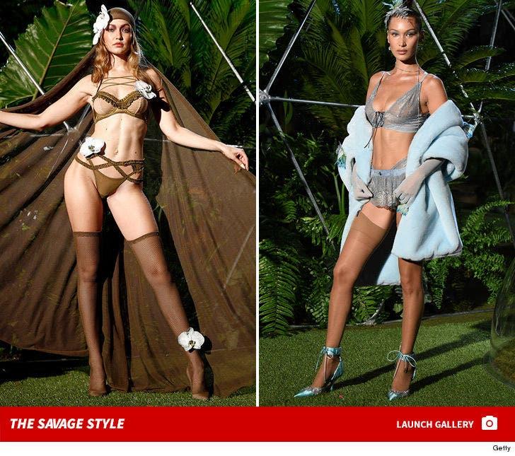 Bella and Gigi Hadid Walk in Rihanna's Savage X Fenty Fashion Show