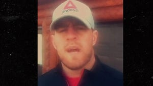 J.J. Watt -- Locks Himself Out of Cabin ... Seeks Refuge In Gym