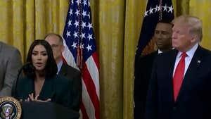 Kim Kardashian and President Trump Discussing Prison Reform at White House