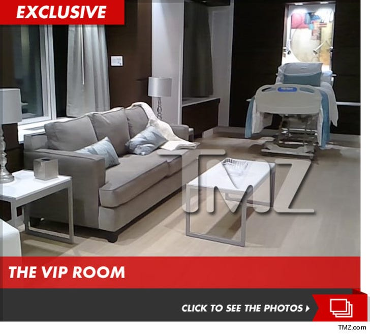 Beyonce's Hospital Room -- Like a 5-Star Hotel [PICS]