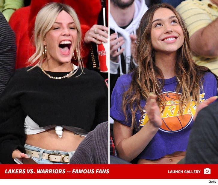Lakers vs. Warriors -- Famous Fans