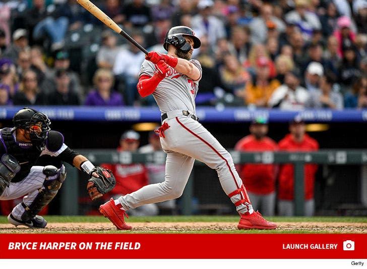 Bryce Harper on the Field